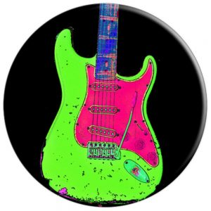 Music Vintage Colorful Guitar Relic - PopSocket Amazon