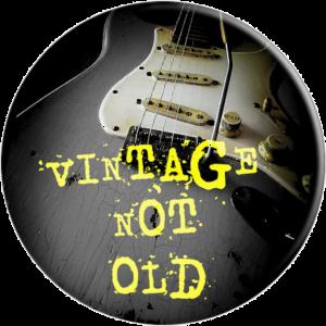Vintage Not Old Player Rock Music - PopSocket