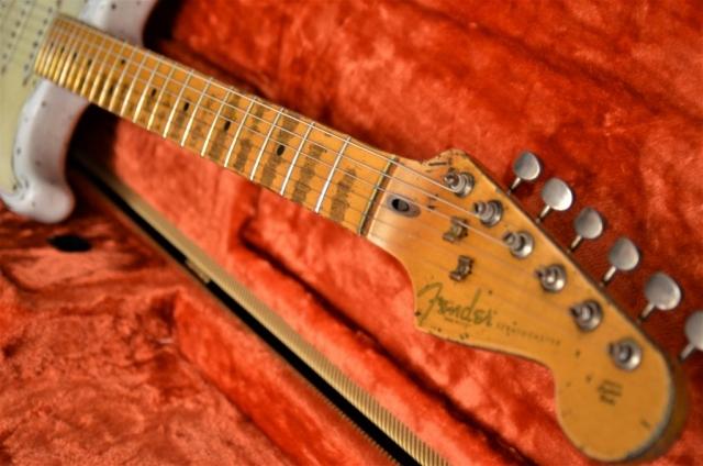 Custom Shop Fender Stratocaster Relic Aged Neck Frets Headstock Peghead Guitarwacky.com