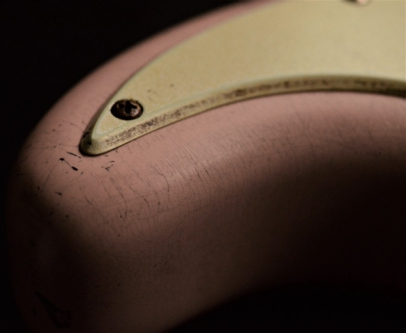 Fender Stratocaster Relic Aged Shell Pink Guitarwacky.com