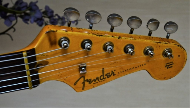 Tuners Fender Stratocaster Aged Headstock Peg Head Relic White Guitarwacky.com