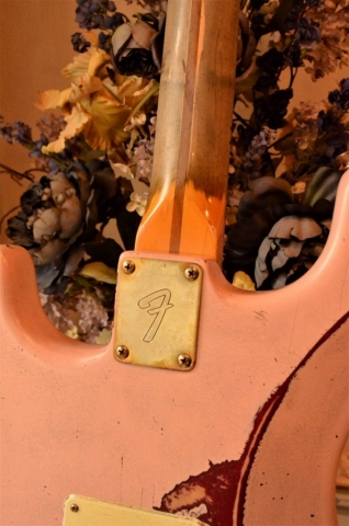 Fender Stratocaster Heavy Relic Shell Pink  Neck Plate Guitarwacky.com