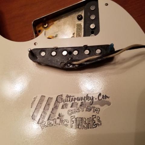 Fender Telecaster Relic Texas Special Pickguard Guitarwacky.com
