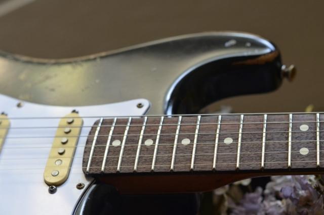 Black Fender Stratocaster