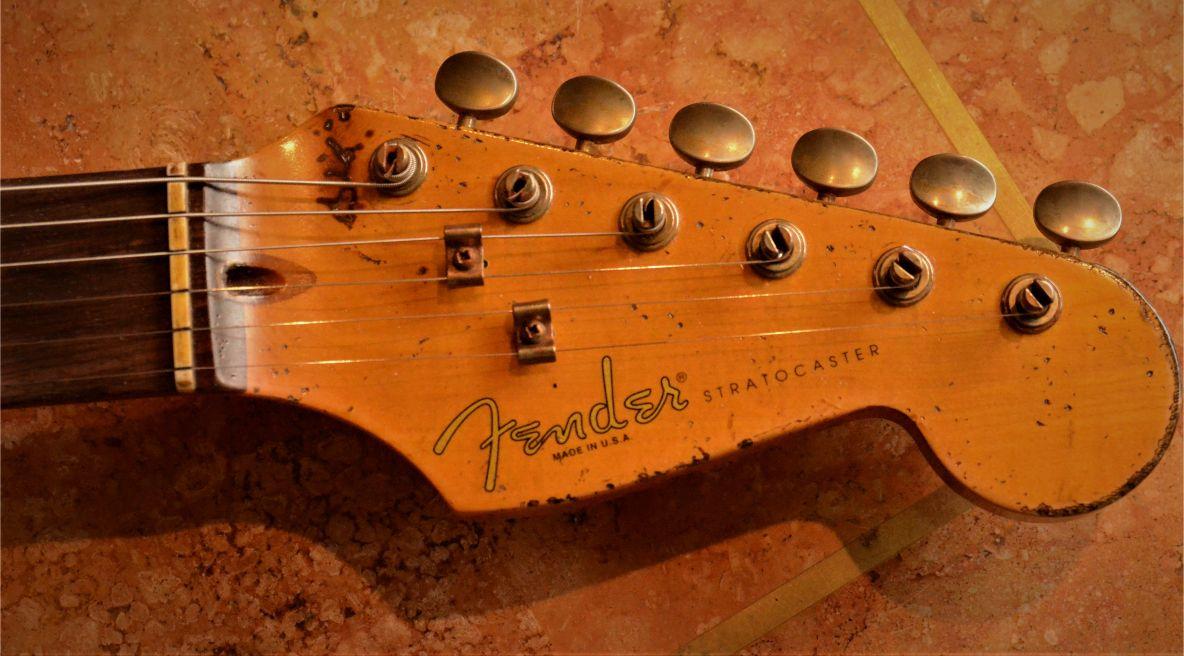 Fender Stratocaster Relic Head Stock Guitarwacky.com
