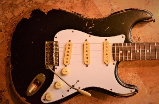 Fender Stratocaster Black Nitro Heavy Relic Custom Guitarwacky.com