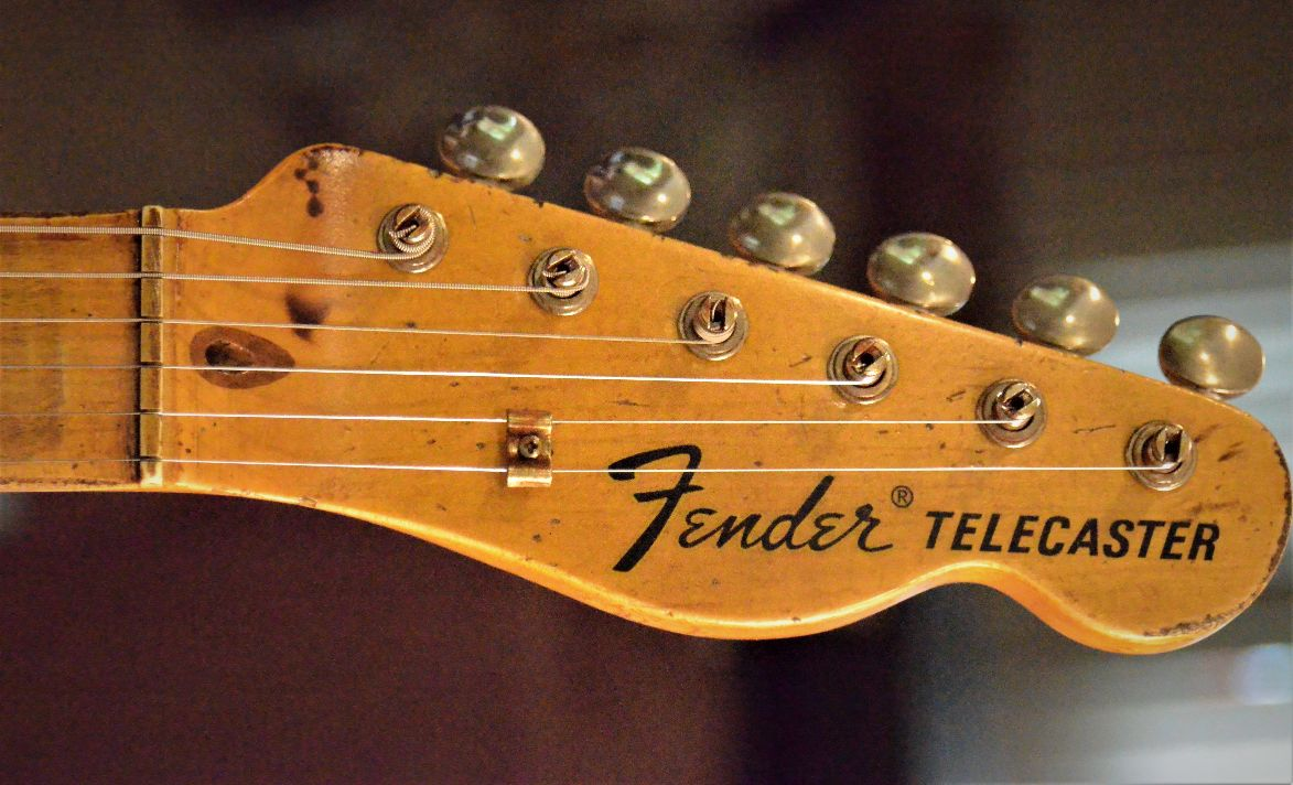 Fender Telecaster Relic Maple Neck Headstock Guitarwacky.com