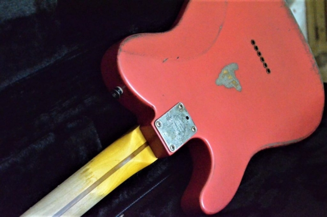 Fiesta Red Fender Telecaster Heavy Relic Aged Fiesta Red Guitarwacky.com