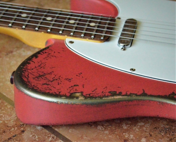 Fiesta Red Fender Telecaster Heavy Relic Fiesta Red Guitarwacky.com