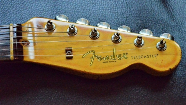 Aged Relic Telecaster Head stock Ping Tuners Guitarwacky.com