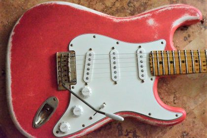 Fender Stratocaster Relic Fiesta Red Guitarwacky.com