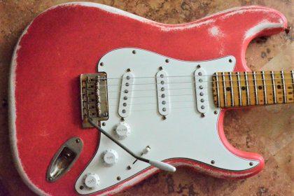 Fender Stratocaster Relic Fiesta Red Guitarwacky.com