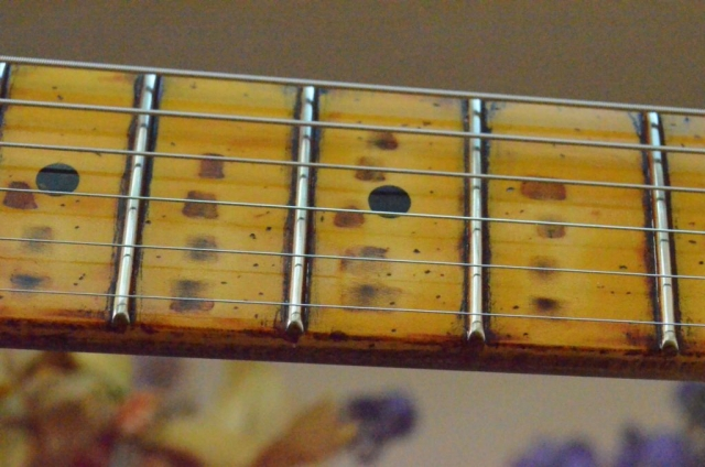 Fender Telecaster Heavy Relic Head Stock Neck Wear Frets Guitarwacky.com