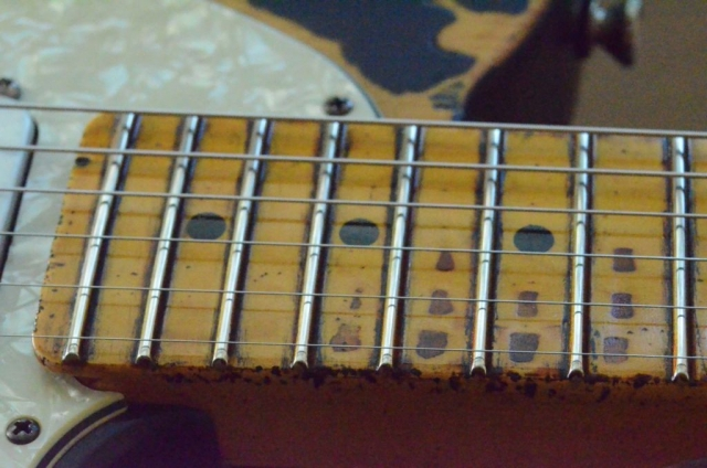 Fender Telecaster Heavy Relic Neck Wear Frets Guitarwacky.com