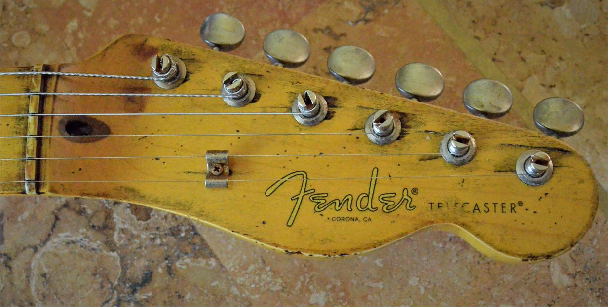 Fender Telecaster Heavy Relic Head Stock Neck Wear Guitarwacky.com