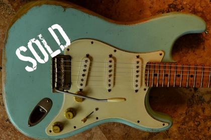 Fender Strat Heavy Relic Surf Green