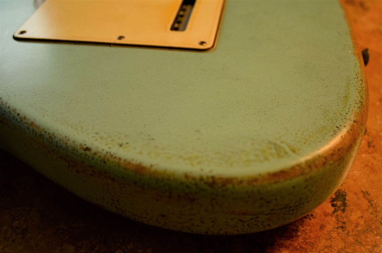 Back Cover Fender Stratocaster Relic Surf Green Guitarwacky.com