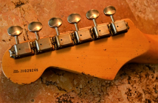 Relic Aged Headstock Fender Stratocaster Guitarwacky.com