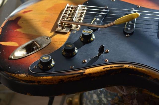 Fender Sunburst Nitro Relic Stratocaster Guitarwacky.com