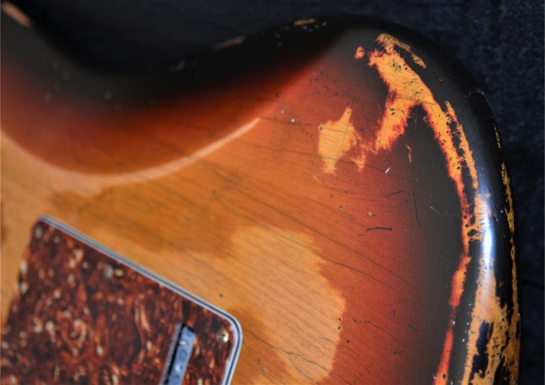 Back Plate Fender Sunburst Relic Stratocaster Guitarwacky.com