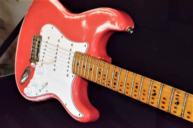 Fiesta Red Fender Stratocaster Relic Guitarwacky.com