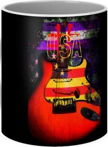 USA Guitar Coffee Mug