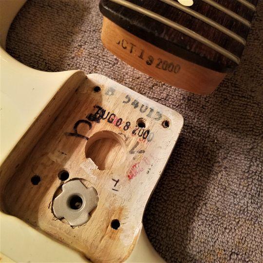Fender Neck Pocket and Neck Date Guitarwacky.com