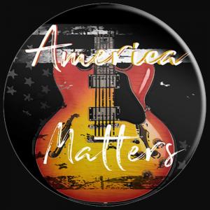 America Matters Patriotic US Flag Guitar - PopSocket
