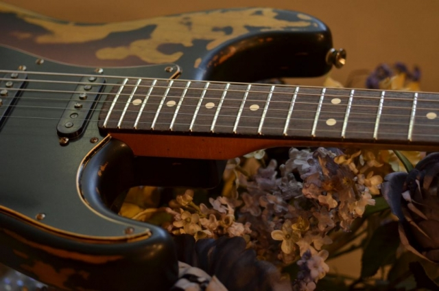 Fender Stratocaster Relic Sunburst Frets Neck Guitarwacky.com