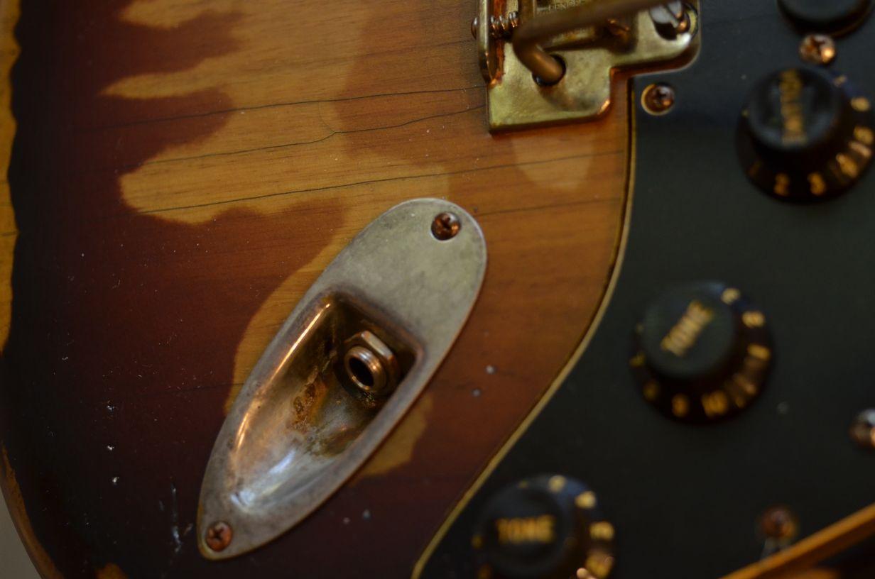 Fender Stratocaster Relic Sunburst Jack Plate Guitarwacky.com