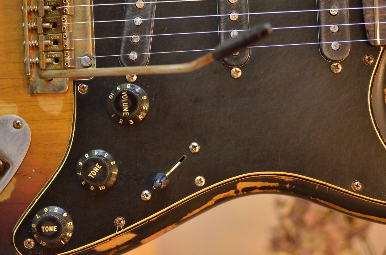 Fender Stratocaster Relic Sunburst Pickguard Guitarwacky.com
