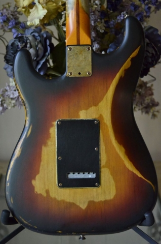 Fender Stratocaster Relic Sunburst Back Cover Guitarwacky.com
