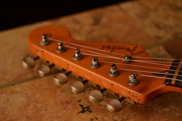 Fender Strat Headstock Aged