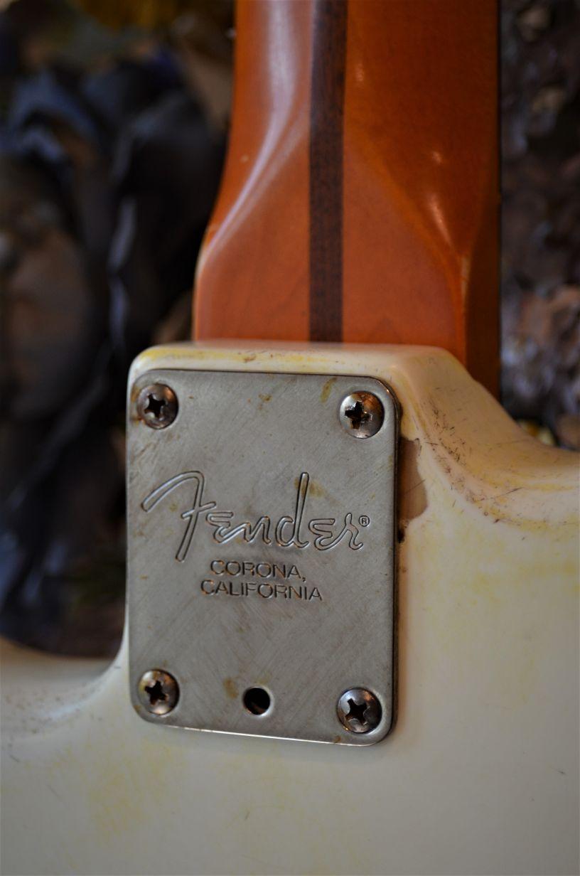 Fender Stratocaster White Relic Neck Plate Guitarwacky.com