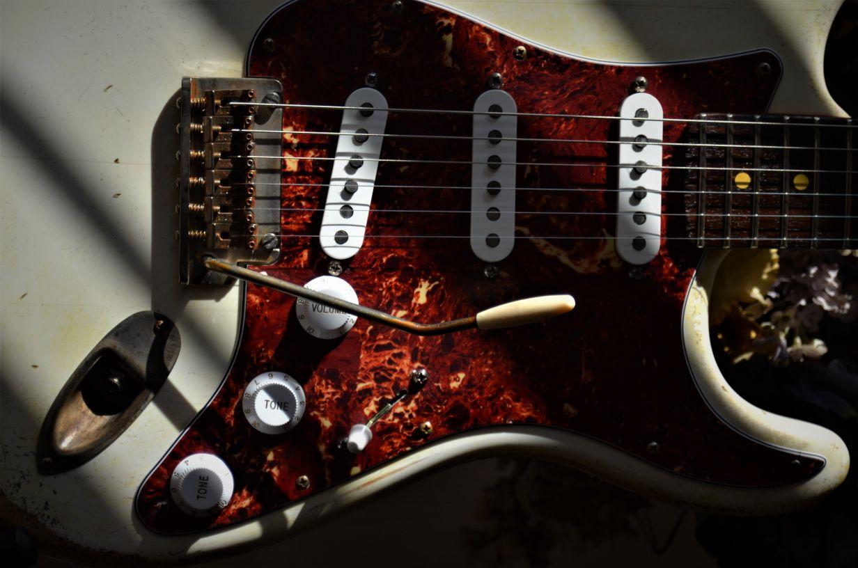Fender Stratocaster Relic White Tortise Shell Guitarwacky.com