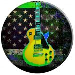 Distressed Colorful American Flag Guitar - PopSockets