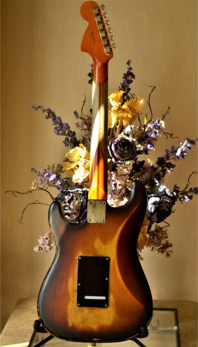 Fender Stratocaster Relic Maple Neck Rear Wear Pattern