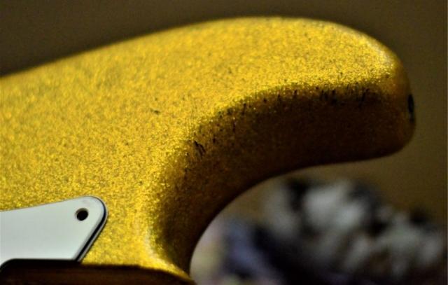 Fender Stratocaster Relic Sparkle Flake horn