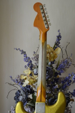 Fender Stratocaster Relic neck Gold Sparkle