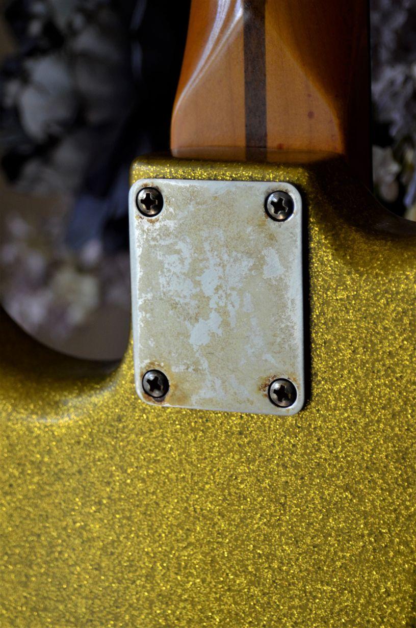 Fender Stratocaster Relic neck plate Sparkle Flake