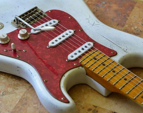 White Fender Stratocaster Relic Guitar