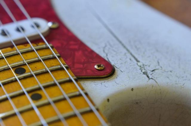 Vintage White Fender Relic Guitar