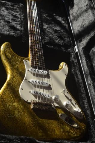 Vintage Fender Stratocaster Custom Gold Leaf
