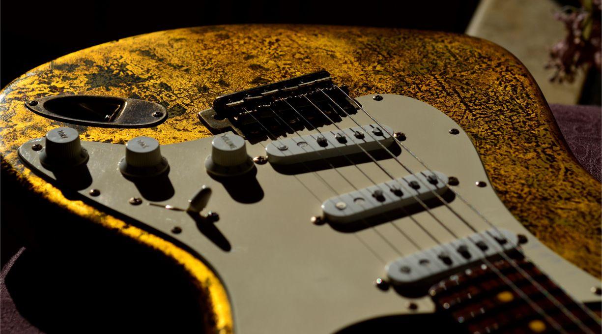 Fender Gold Leaf Stratocaster Guitar