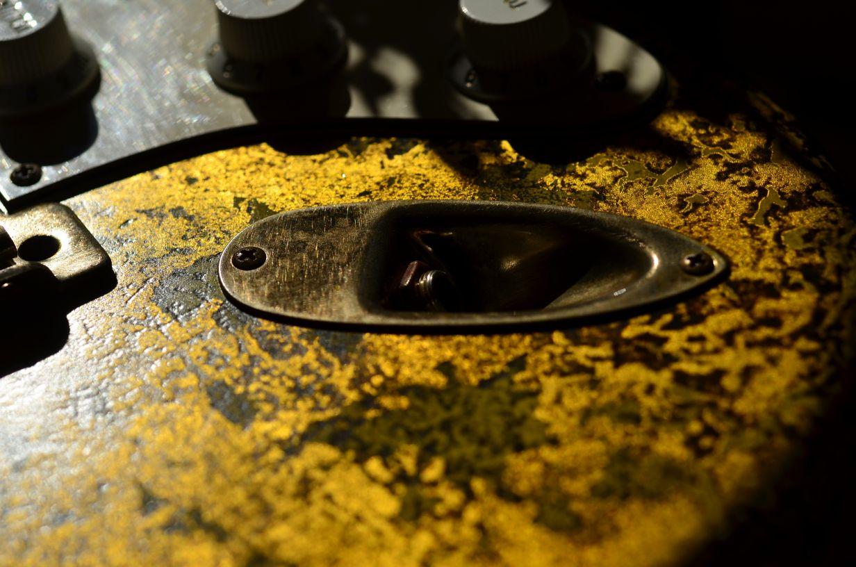 Fender Stratocaster Custom Gold Leaf Plug Jack Plate