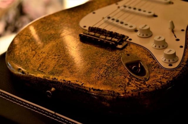 Fender Stratocaster Custom Gold Leaf Guitar