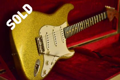 Fender Gold Sparkle Stratocaster Relic
