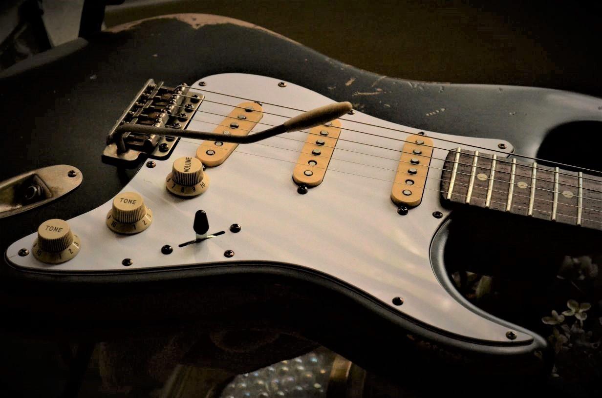 Black Fender Stratocaster Relic Sale