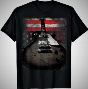 American Flag Guitar Shirt