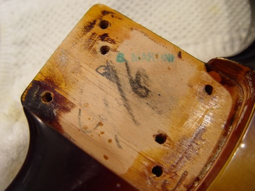 Neck Pocket Fender Custom Shop Relic Stratocaster